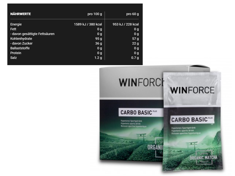 Winforce - Sportgetränkepulver - Carbo Basic Plus